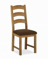 Dukeries Chatsworth Dining Chair with Fabric Seat
