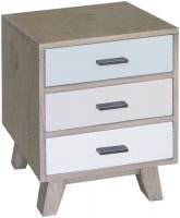 Sorrento Reclaimed 3 Drawer Bedside Cabinet