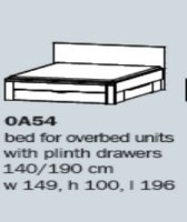 "Rivera 0A54 4'6"" Bed With Drawers"