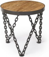 Boston round wine table with chain legs