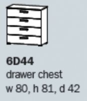 Rivera 6D44 4 Drawer Wide Chest ASSEMBLED