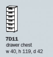 Rivera 7D11 6 Drawer Narrow Chest ASSEMBLED