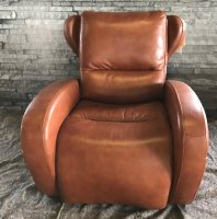 LOT 4 Leather Music Power Recliner Chair