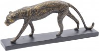 Antique Bronze Stalking Panther