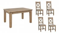 Coniston 1.3m Extending Table & 4 Chairs