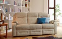 Boston Double Manual Recliner 3 Seater Sofa