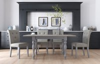 Dukeries Wycombe Small Extending Dining Table & 4 x Amelie Dining Chairs