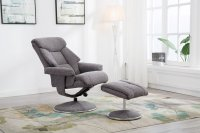 Broome Swivel Recliner Chair & Stool