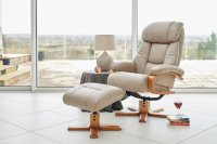 Newark Recliner Chair & Stool
