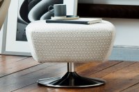 Evolution 1703 Footstool with Brushed Chrome Base