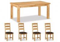 Clumber Small Extending Table & 4 Ladderback Chairs