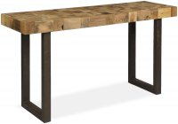 Boston console table with iron legs