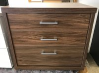 LOT 46 RAUCH PLUS-2 BEDSIDE  WALNUT CHEST