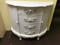 Painted White Hall Cupboard