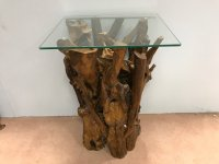Woodland Teak Root Lamp Table