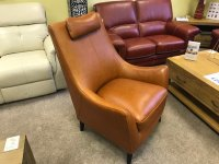 THE PILSLEY LEATHER ACCENT CHAIR.
