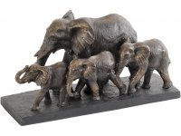 Antique Bronze Parade of Elephants
