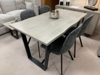 Clifton Fixed Top Dining Table & 4 Turin Dining Chairs