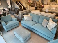 Parker Knoll Hoxton Grand Sofa, Chair & Fitzroy Stool