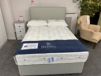 "Hypnos Orthocare 6  4'6"" Mattress, Divan & Strutted Emily Headboard"