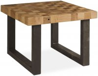 Boston coffee table with iron legs