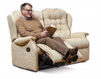 Lynton Standard Rech. Powered Reclining 2-seater - Dark Beech Knuckles