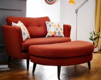 Madrid Oval Cuddler Chair and Cuddler Stool