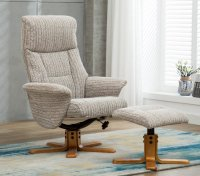 Melbourne Recliner Swivel Chair & Stool