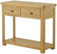 Portland 2 Drawer Console Table - oak