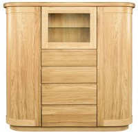 Sorento Display Cabinet with Wooden Door
