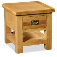 Clumber Lamp Table with Drawer