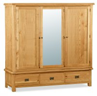 Clumber Extra Large Triple wardrobe