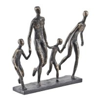 Antique Bronze Family Of Four