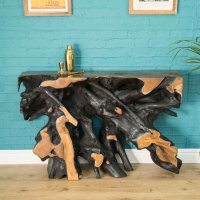 Natural Root Console Table