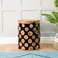 Natural Teak Branch Pineapple Stool