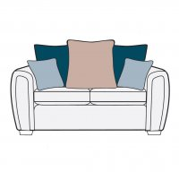 Memphis 2Str Pillow Back Settee