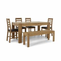 Derwent Extending Dining Table, Bench & 2 Chairs (SET)