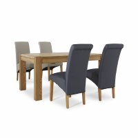 Derwent Extending Dining Table & 4 Chairs (SET)