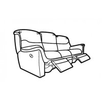 Savannah Double Power Recliner 3 Seater Sofa