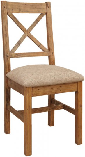 Camrose Reclaimed Chair with Fabric Seat