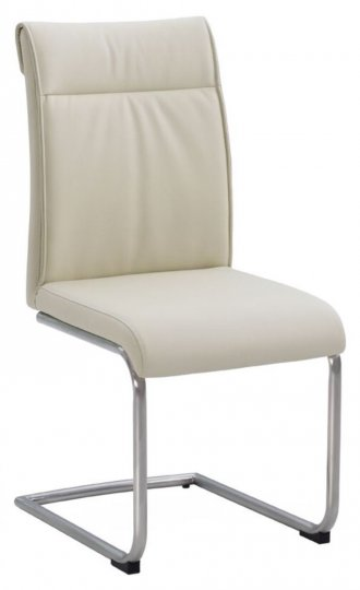 Industrial High Back Cream Dining Chair