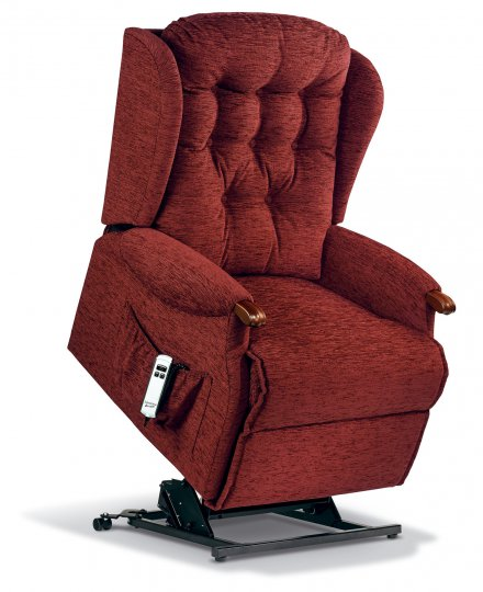 Lynton Royale 2-motor Electric Lift Recliner - Dark Beech Knuckles