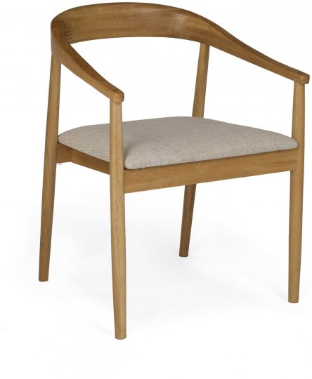 Malmo Carver Chair - Pearl fabric
