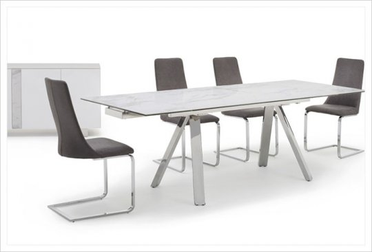 Stromboli Extending Dining Table & 4 Chairs