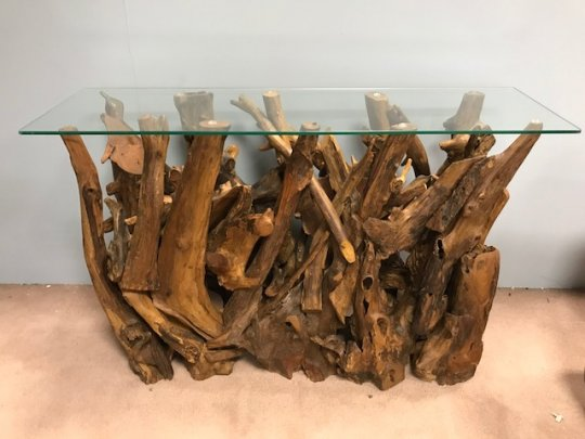 Woodland Teak Root Wall Table