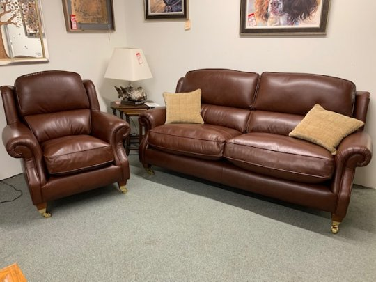 Parker Knoll Henley Large 2 Seater Sofa & Chair in Leather