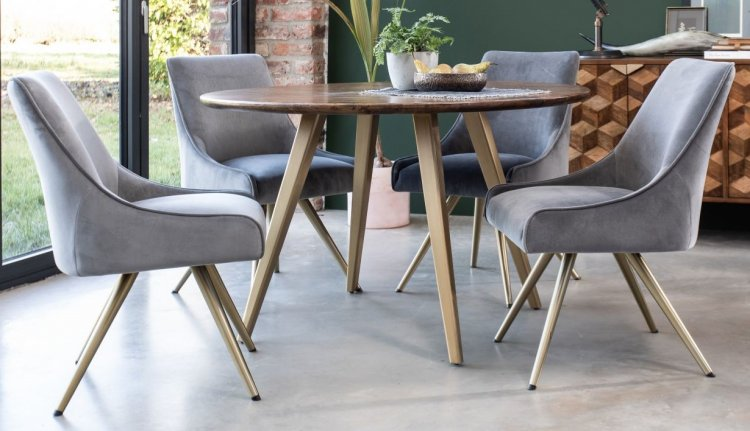 Boxer 120cm Round Dining Table 4 Amy, Round Table And Chairs Set