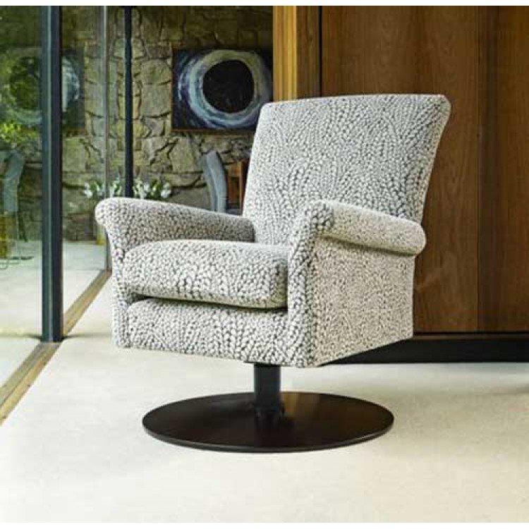 Bradley Swivel Rocker With Wooden Base Eyres Furniture