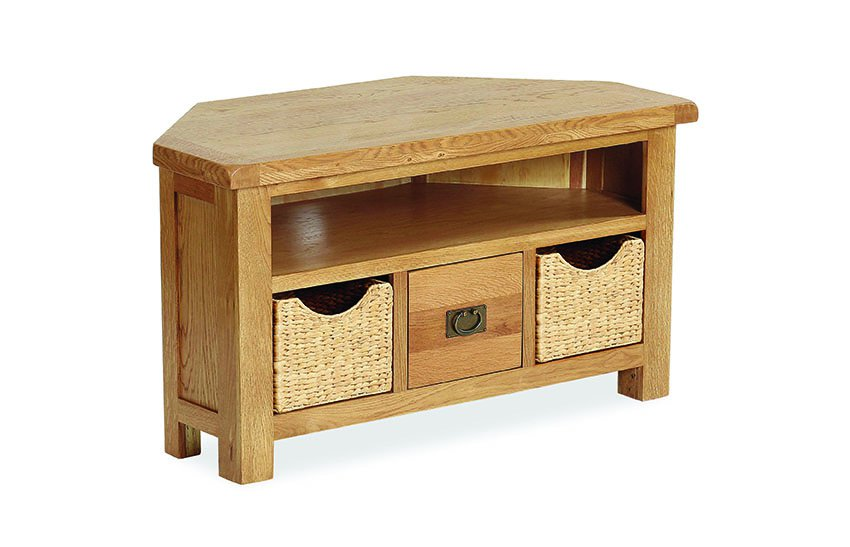 the best attitude 2dfc9 72e74 Clumber Corner TV Unit with Baskets
